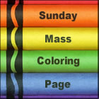 Sunday Mass coloring page
