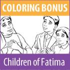 Children of Fatima coloring page