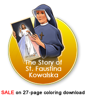 St Faustina Coloring Pages