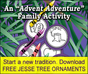 Free Jesse Tree ornaments