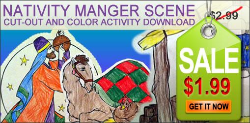 Nativity Manger Scene coloring download